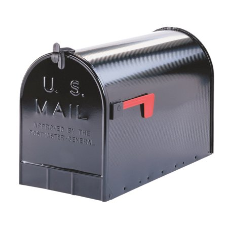 Gibraltar Mailboxes Stanley Extra Large Capacity Galvanized Steel Blac