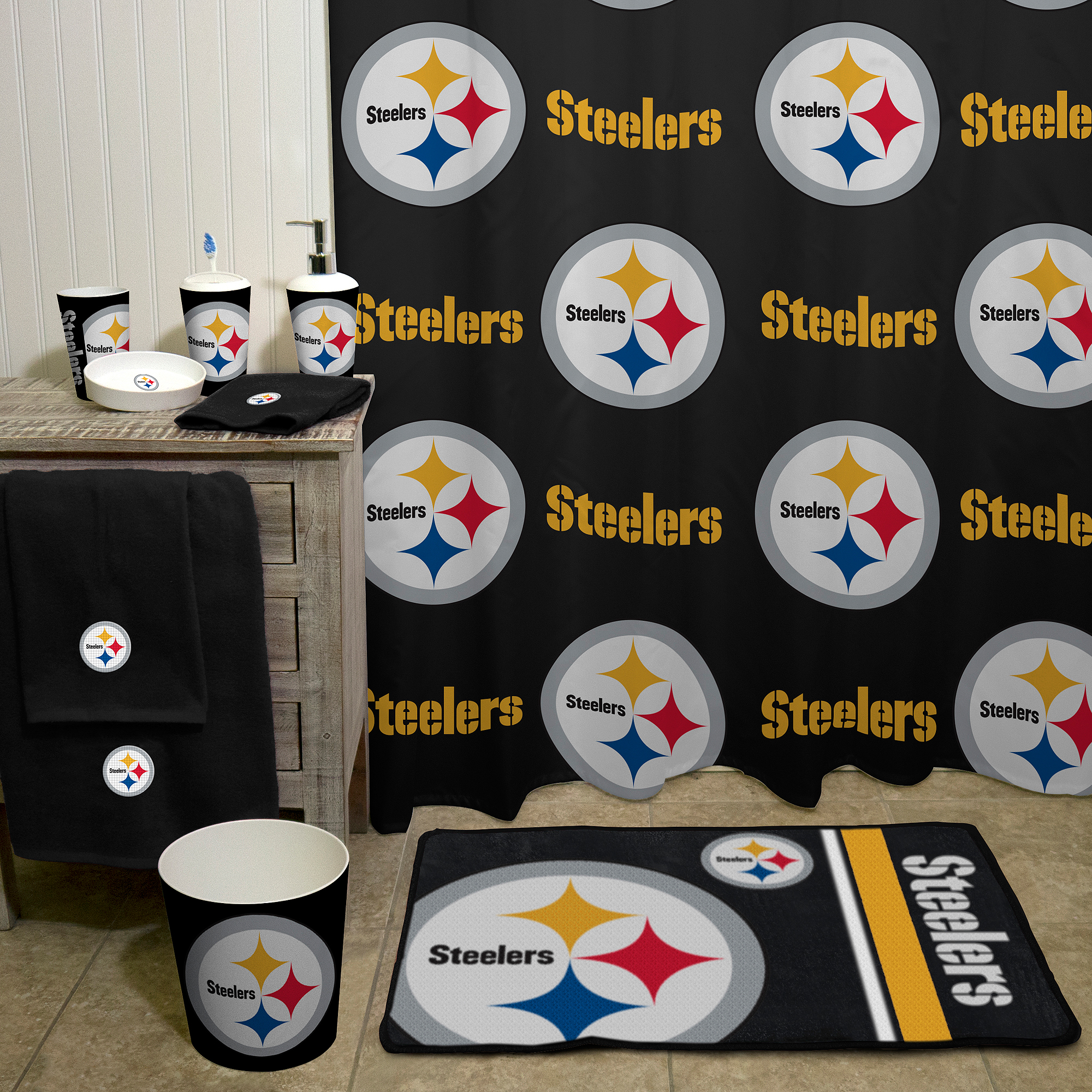 Delicieux NFL Pittsburgh Steelers Decorative Bath Collection   Shower Curtain    Walmart.com