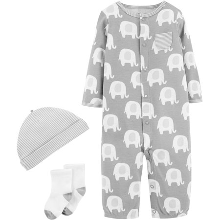 Carters Baby Unisex 3-pc. Elephant Layette Set