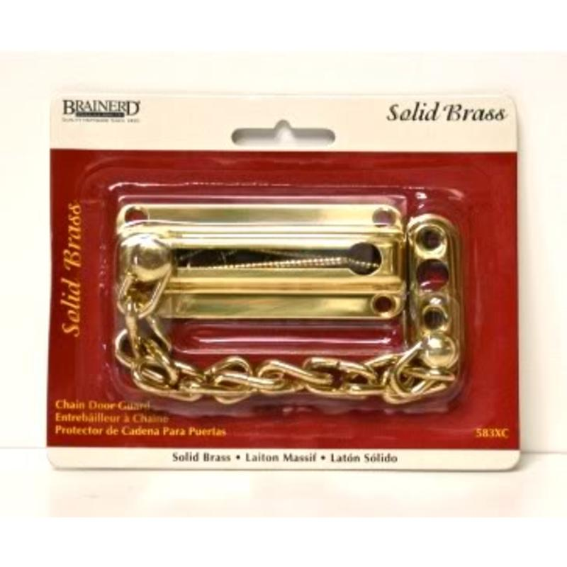 Brainerd Solid Brass Chain Door Guard Security Latch Brainerd Cabinet Latches