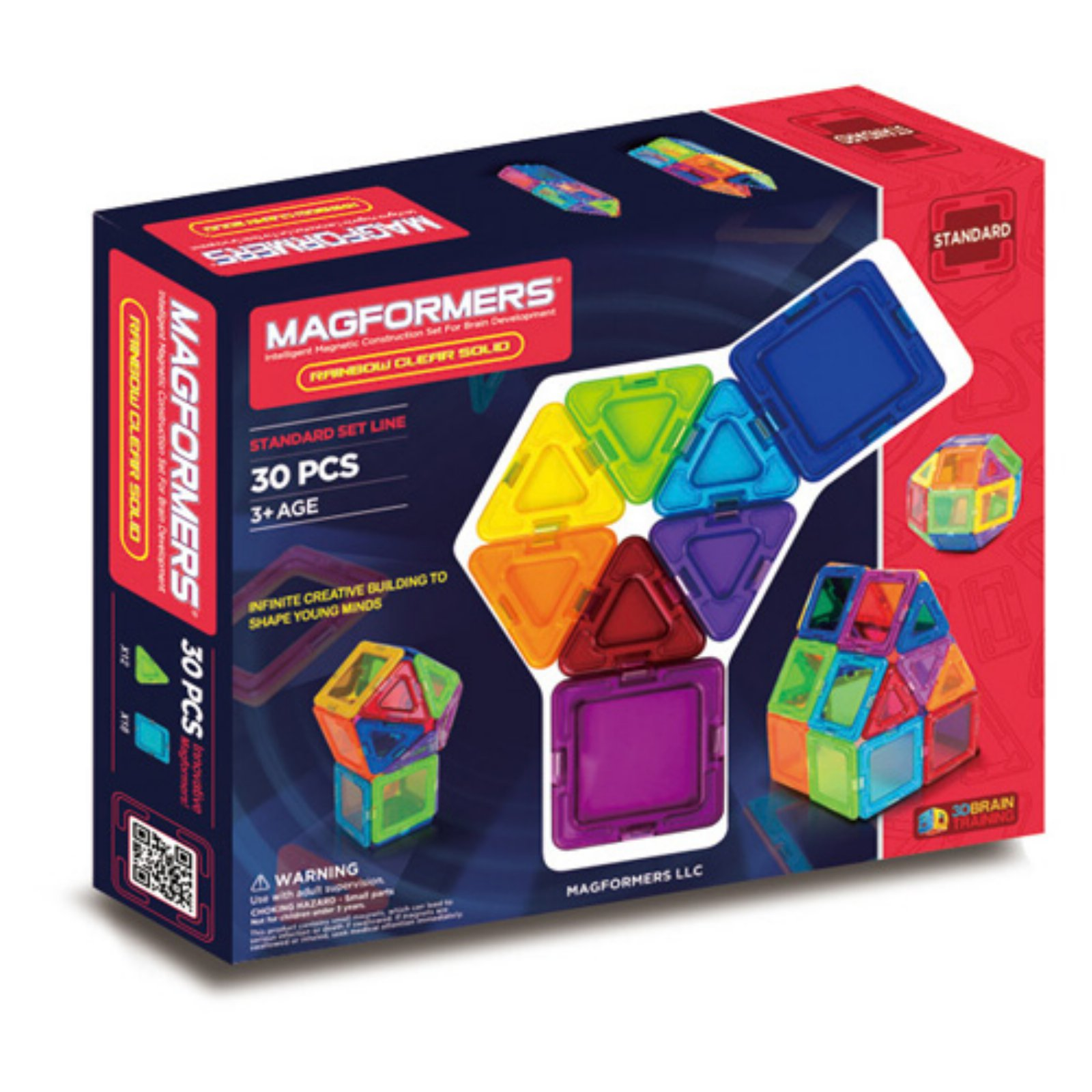 Solids Clear Rainbow 30pc Set