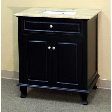 Bellaterra Home 603215-32B-TR 32 in. Single Sink Vanity Wood Ebony