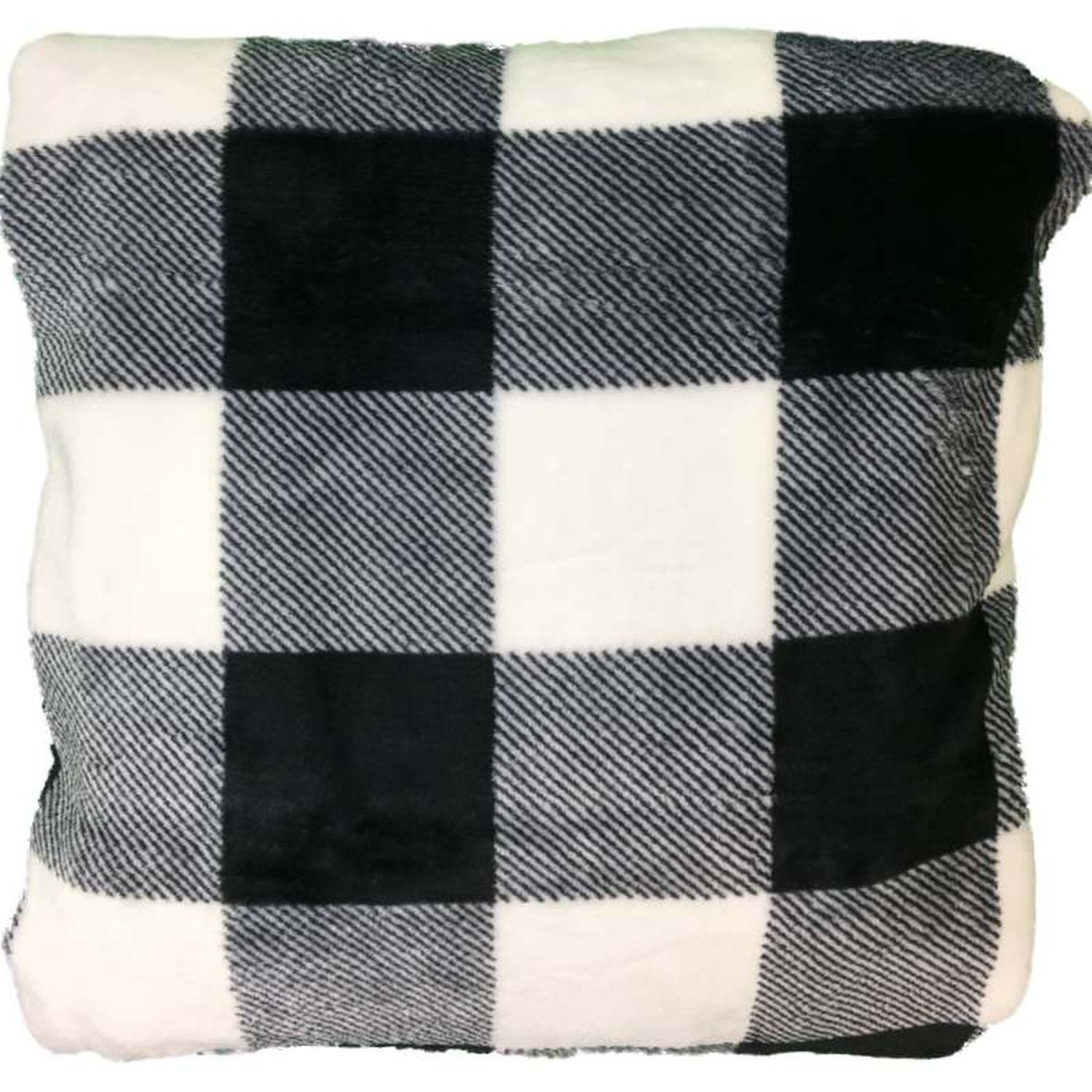 The Big One Oversized Plush Throw Blanket Black & White Buffalo