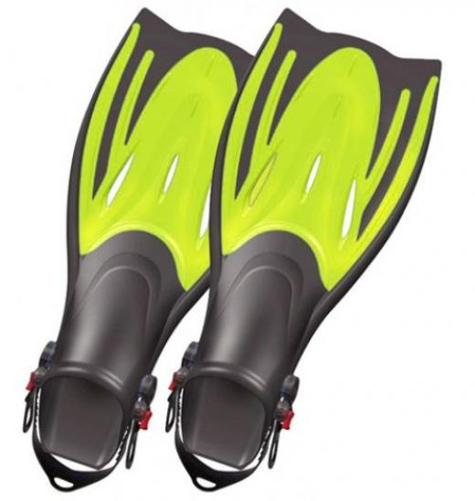 Typhoon T-Jet Adult Fin - Mens Size 4.5-8.5-Blue for Scuba Diving and Snorkeling