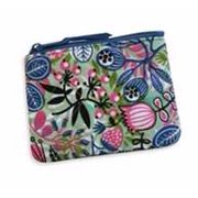 Coin Purse-Quilted/Vine & Flower