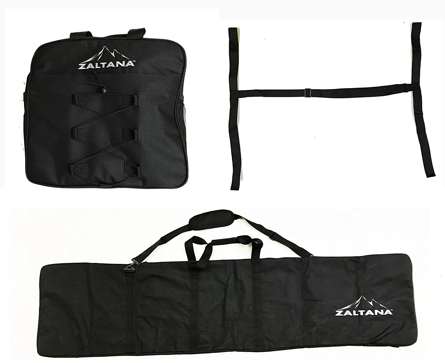 zaltana SKB25 Padded Snowboard Carier Bag Rack, Black by
