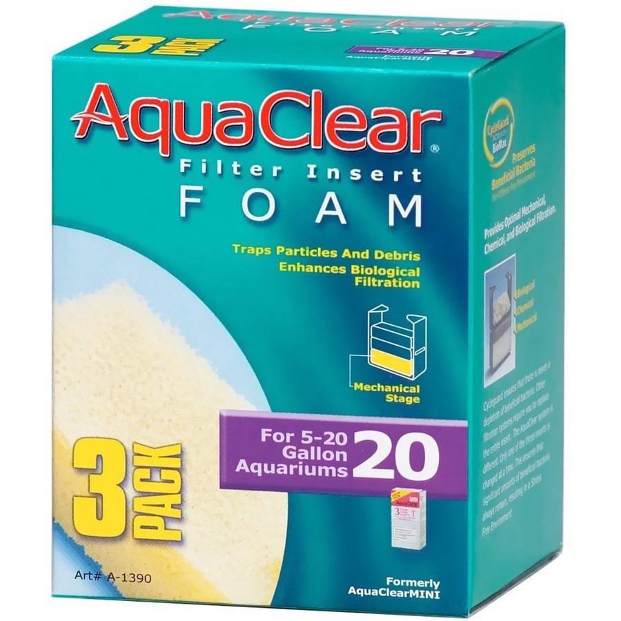 AquaClear 20 Filter Insert Foam, 3pk