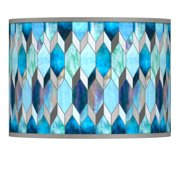 Giclee Glow Blue Tiffany-Style Giclee Lamp Shade 13.5x13.5x10 (Spider)