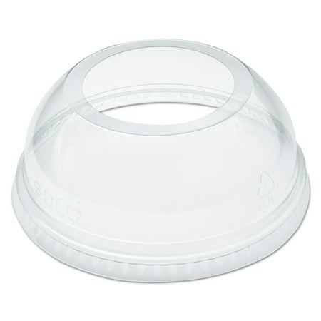 Dart Open-Top Dome Lid for 16-24 oz Plastic Cups, Clear, 1.9