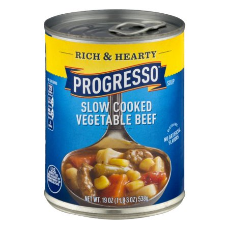 - Progresso Rich & Hearty Slow Cooked Vegetable Beef Soup (Pack of 12)