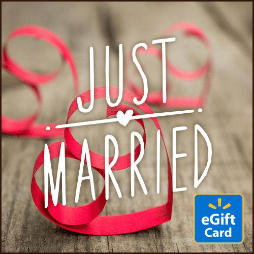 Just Married Walmart eGift Card