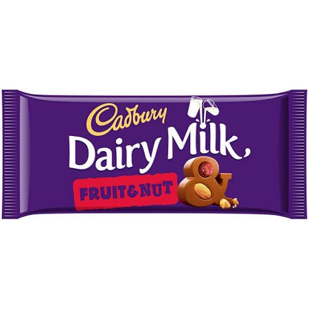 Cadbury Chocolate Bar 200g (7oz) - Made in England (Cadbury FRUIT & NUT 200g (7oz))
