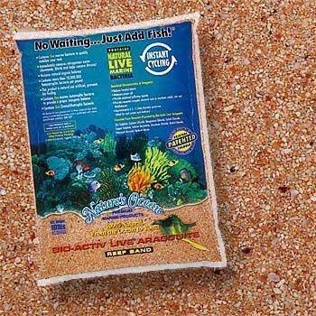 Natures Ocean Bio Activ Live Aragonite Reef Sand Australian Gold - 20 lbs - (Grain Size 0.5-1.7 mm)