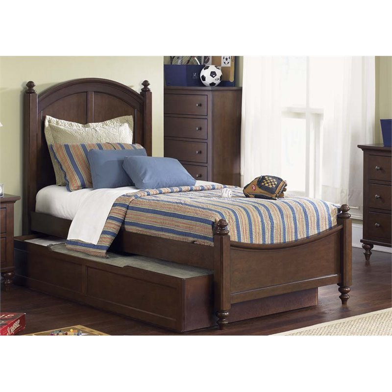 Liberty Furniture Abbott Ridge Twin Panel Bed in Cinnamon