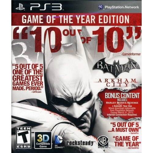 Batman: Arkham City: Game of the Year Edition (PS3)