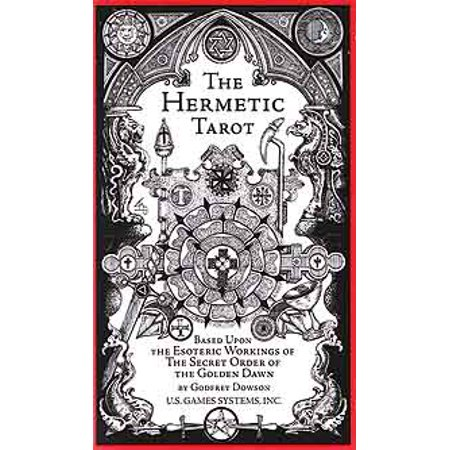 Tarot Cards Hermetic Deck Based On Esoteric Workings of The Secret Order of the Golden Dawn Sephirotic Angelic Geomantic Numerical Kabbalistic Elements Fortune Telling Tool by Dowson and