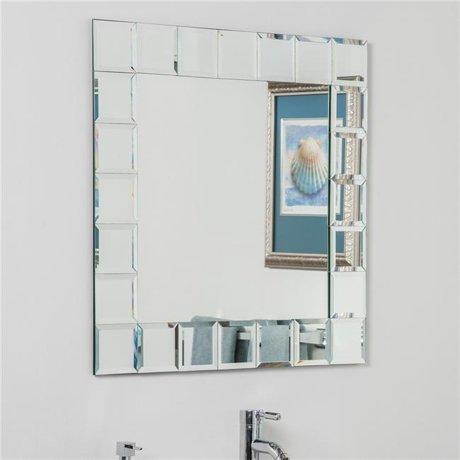 Decor wonderland ssm414 1s montreal square bathroom mirror silver - Bathroom mirrors montreal ...