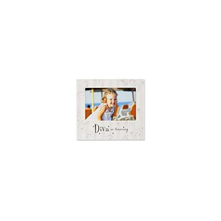 Lawrence Frames Nursery Collection Luxury Frame, Diva in Training, 6 by 4-Inch, Off-White/Pink