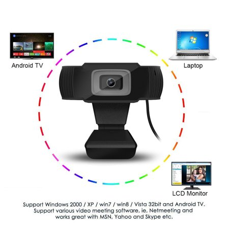 HD 1080P 12MP USB 2 0 Webcam Camera w/ MIC Clip-on For Computer PC Laptop  Skype