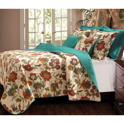 Greenland Home Fashions Clearwater 3-piece Quilt Set King Quilt Set