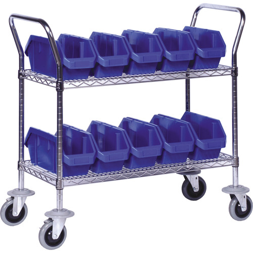 Quantum Storage Quick Pick Bins Mobile Wire Utility Cart