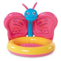 Summer Waves Inflatable Butterfly Shade Baby Pool, Pink