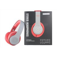 Over-the-Head Stereo Bluetooth Headsets for Motorola Moto X4, X (2017), G5 Plus, Z2 Force Edition, Z2 Play, Z Play, Z Force, Moto Z, M, G5s Plus, E4 (Red)