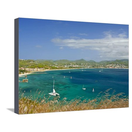 View From Pigeon Point Down to Rodney Bay, St. Lucia, Windward Islands, West Indies, Caribbean Stretched Canvas Print Wall (Windward Mall)