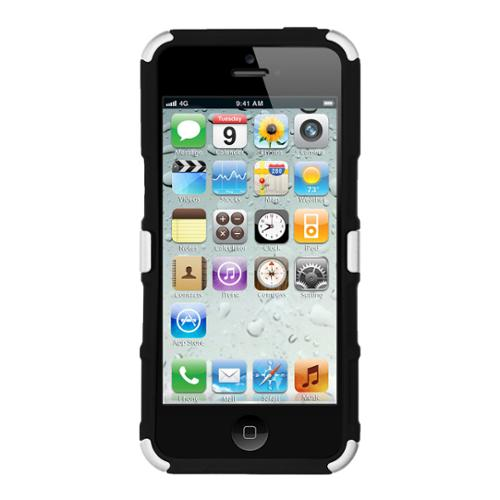 New Seidio Protector Hard Case Cover w/ Kickstand for Apple iPhone 5/5s/SE -White