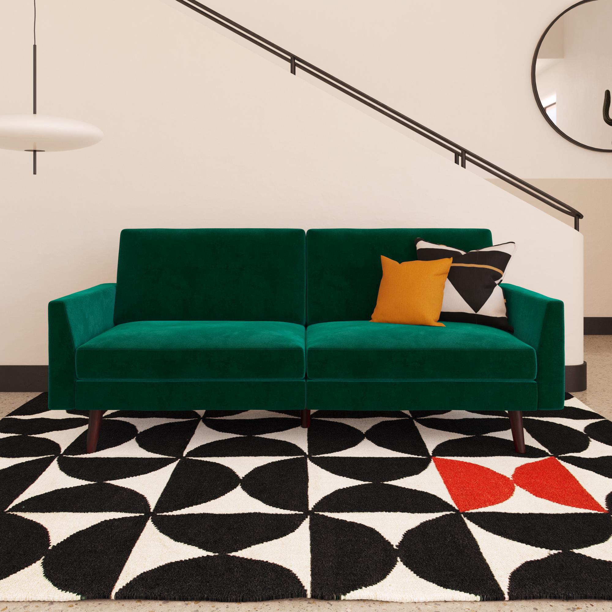 DHP Jules Velvet Coil Futon, Multiple Colors