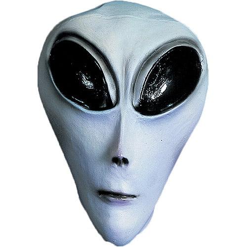 UFO Gray Adult Halloween Latex Mask Accessory
