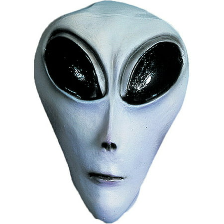 UFO Gray Adult Halloween Latex Mask Accessory