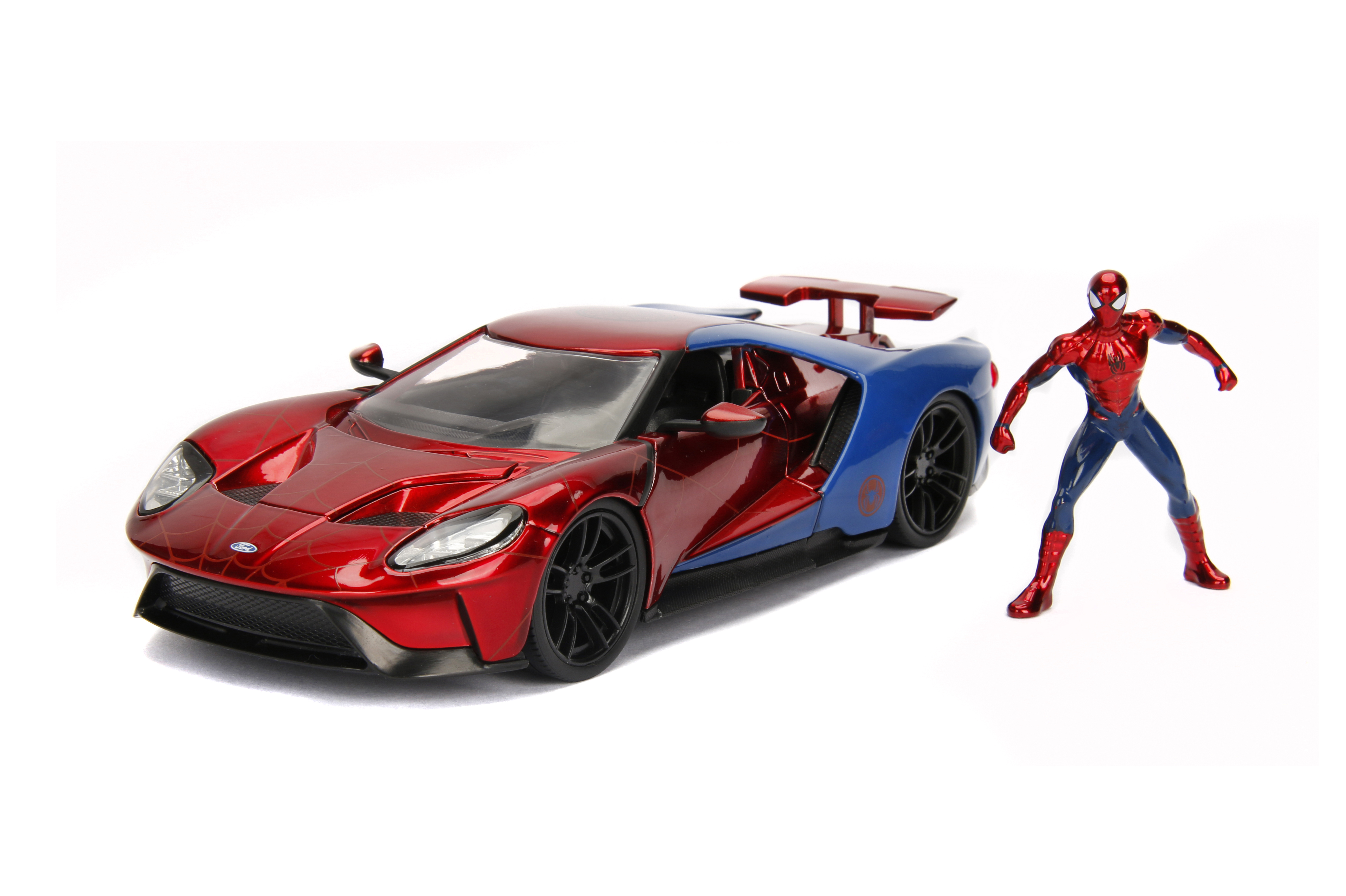 Hollywood Rides 1:24 Scale Marvel Spiderman Die Cast Vehicle with Figure by Jada Toys by Jada Toys