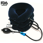 Cervical Neck Traction Device, Inflatable Neck Traction, Neck Brace for Fast Neck Head & Shoulder Pain Relief Adjustable and FDA Approved – For Pain Relief – On the Go