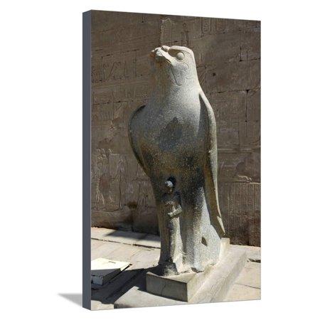 Granite Finish Statue (Black granite falcon statue, Edfu, Egypt Stretched Canvas Print Wall Art By Werner)