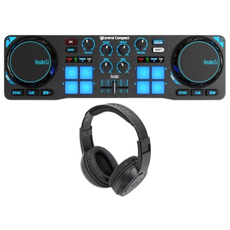 Hercules DJControl Compact USB 2-Deck DJ Controller Mixer+Samson
