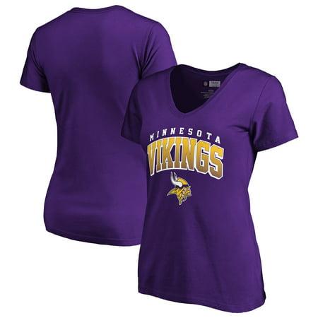Women's Fanatics Branded Purple Minnesota Vikings Faded Arch V-Neck T-Shirt - Viking Women