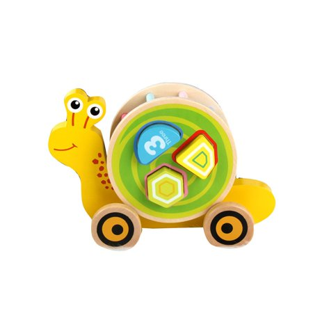 fashionhome Children Wooden Pull Toy Cartoon Animal Building Blocks Matching Early Educational Toys Kids Birthday Gifts - image 1 de 8