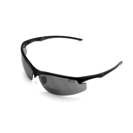V.W.E. Rx Bi-focal High Performance Sport Protective Safety SunGlasses Bifocal - Outdoor Reader Reading Glasses - Ansi Z87.1 (Sports Reading Glasses)