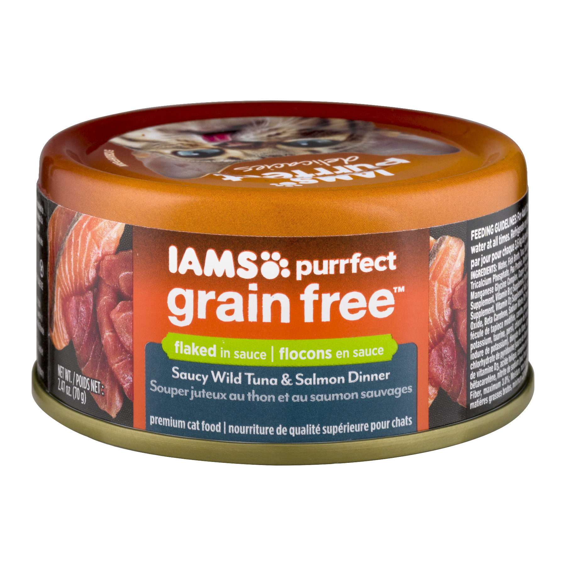 Iams Purrfect Grain-Free Saucy Wild Tuna & Salmon Wet Cat ...