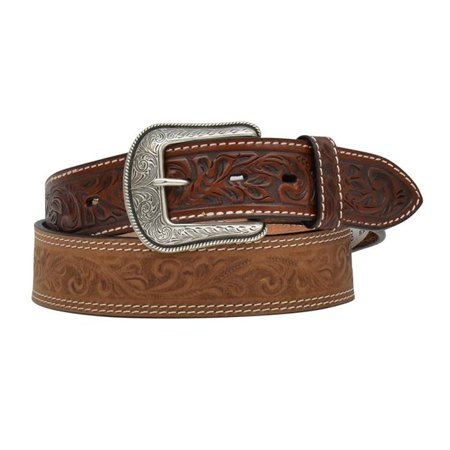 3D Belt D7314-36 1.50 in. Brown Distressed Tooled with B&B Belt - Size 36
