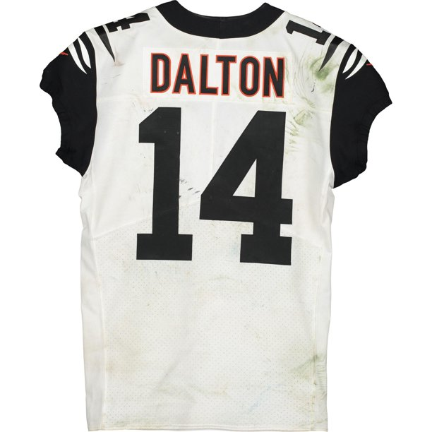 Andy Dalton Cincinnati Bengals Game-Used #14 White Jersey vs. Pittsburgh Steelers on September 30, 2019 - Fanatics Authentic Certified
