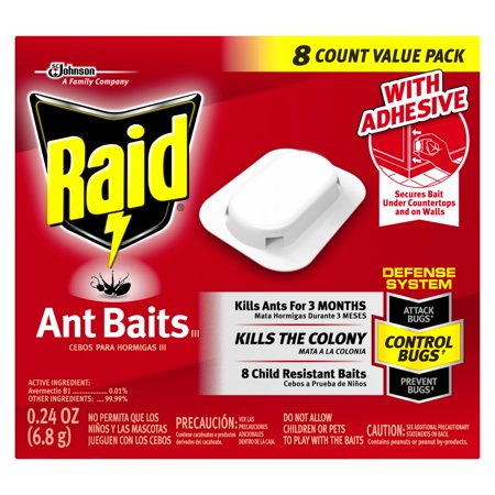 - Raid Double Control Small Roach Baits (8 Ct) & Raid Plus Egg Stoppers (3 Sterilizers)