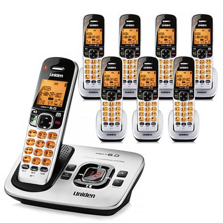Uniden D1780-8 Cordless Phone w/ Digital Answering System & 7 Extra Handsets