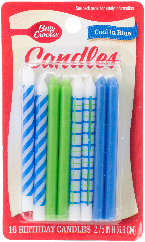 Betty Crocker Cool In Blue Birthday Candles