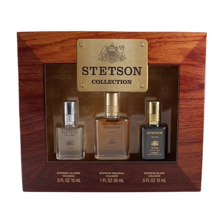 - Stetson Collection 3 Piece Gift Set for Men, Stetson Collection 3 Pc. Gift Set ( Cologne 0.5 Oz Of Stetson Fresh & Stetson Black + Cologne 1.0 Oz Of.., By Coty Ship from US
