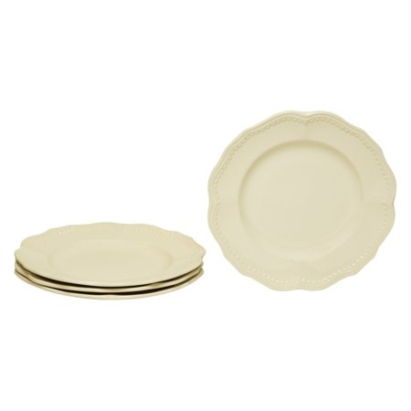 Red Vanilla Classic White Salad Plates - Set of 4