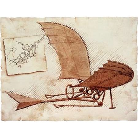 Flying Machine Rolled Canvas Art - Leonardo Da Vinci (11 x 14) Da Vinci Flying Machine