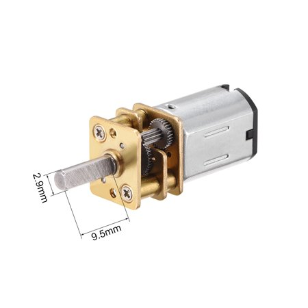 N20 12V 70RPM Micro Gear Motor with Rubber Wheel for Robot Smart Car - image 3 de 4