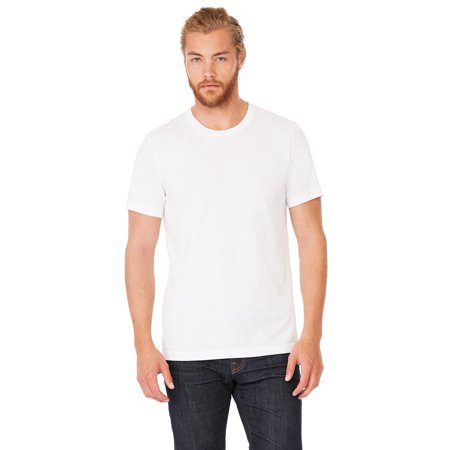 Branded Bella + Canvas Unisex Triblend Short Sleeve T-Shirt - SOLID WHT TRBLND - 2XL (Instant Saving 5% & more) (Peach Shirt For Boys)